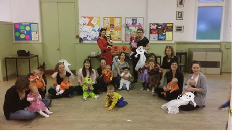 Dance with Babies Glasgow West-End had Halloween Party