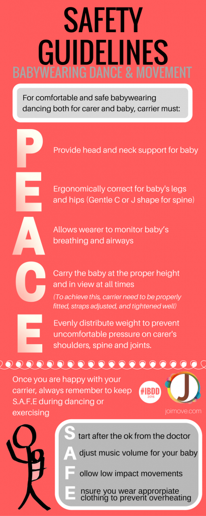 PEACE Babywearing Dance Safety Guidelines