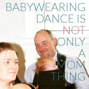 babywearing dance and men